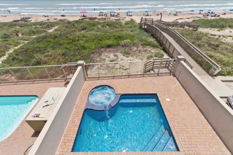 Private heated pool and private beach access - 5416 Gulf Blvd - South Padre Island - rentals