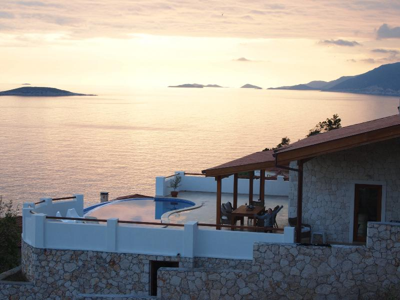 Sun sets at villa Kelebek is one of the best in Kas - Villa Kelebek - Kas - rentals