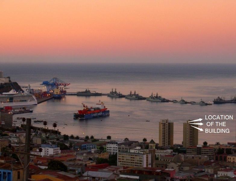 location OF THE building VISTAMAR - Unlimited Pacific Ocean Views - Valparaiso - rentals
