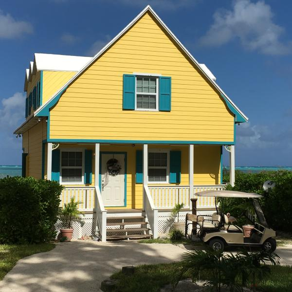 front view/free golf cart - Ocean Dreams/Right On Stunning Beach/Free GolfCart - Spanish Wells - rentals