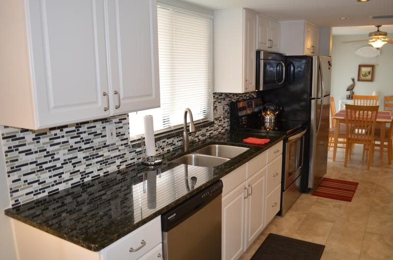 Large Kitchen Fully Stocked - Manasota Key 2 Bedroom Condo w/ Beach & Bay Access - Englewood - rentals