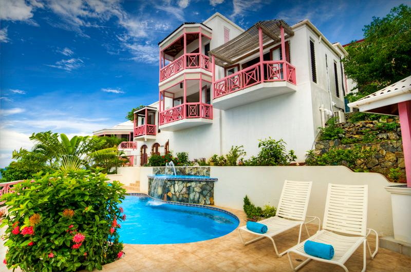 Pool Area - Sunset House - Belmont - rentals