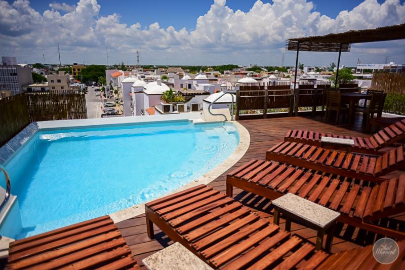 Beautiful rooftop and a pool with some views of the city - LOW RATES, great location, 2 bedroom, sleeps 4 - Playa del Carmen - rentals