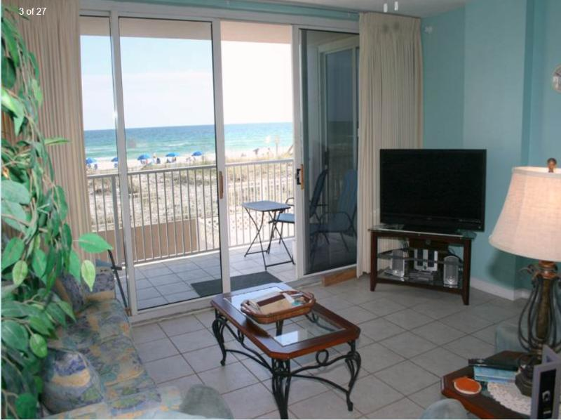 Ocean view from our living area - 2 Bedroom 2 Bath - Ocean Front view IP205 - Fort Walton Beach - rentals