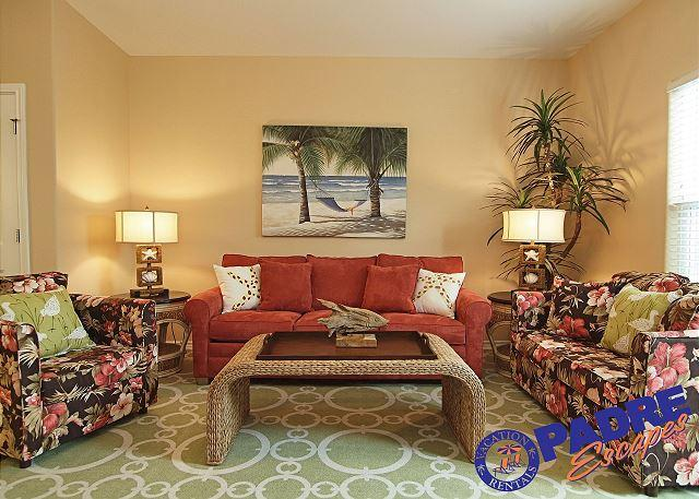 Beautifully decorated living area - Nemo Cay Resort is the Premier Vacation Destination on the Island. - Corpus Christi - rentals