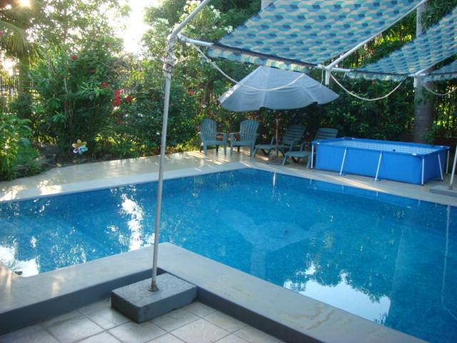 Refreshing lap swimming pool...steps to lounge on ((-: - Safe & Quiet Emma's Guest Cottage - Comfort Plus! - Granada - rentals