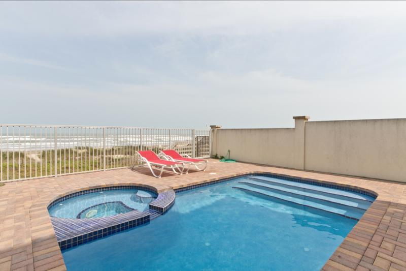 Private heated pool with ocean views - 5208 Gulf Blvd - South Padre Island - rentals