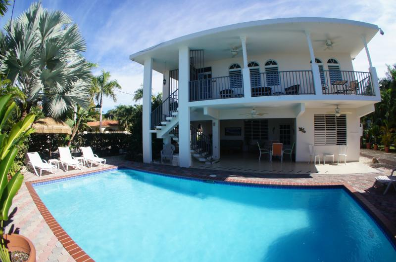 Large private pool and plenty of outdoor furniture - Best Family Rental w/Pool Steps from Corcega Beach - Rincon - rentals