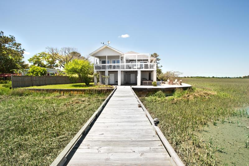View from the private deep water dock - Tybee River House - Tybee Island - rentals