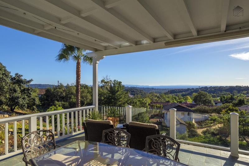 Enjoy the gorgeous scenery while you sit out or enjoy dinner on your upstairs patio. - Amazing ocean view home on 1.3 acres, perfect for intimate events! - Ocean Vista Retreat - Santa Barbara - rentals