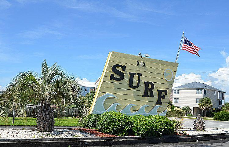 Surf Condo Entrance - Surf Condo 414 - Scenic Ocean View, Simple Design, Pool, Beach Access, Onsite Laundry - Surf City - rentals