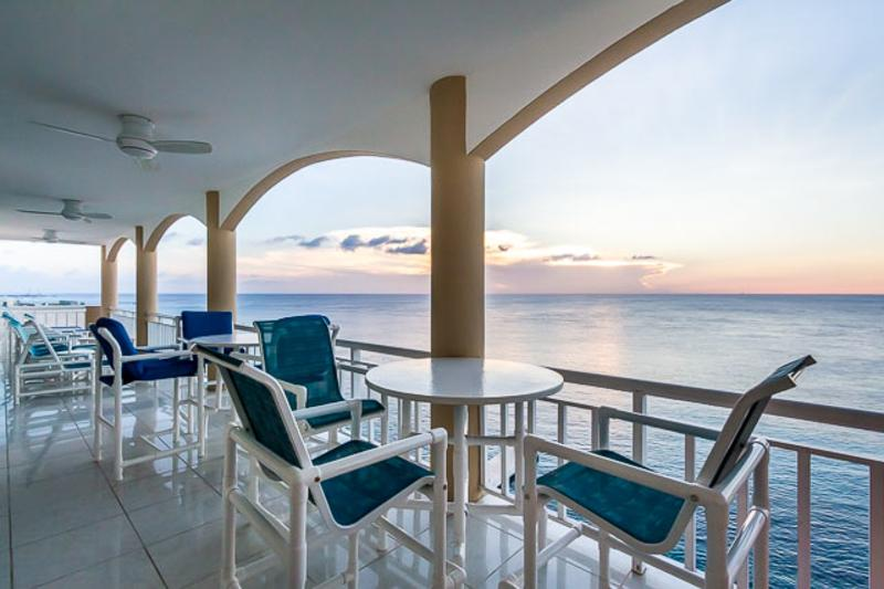 The view is better from the top!  Sunsets really are spectacular from the 60+ ft balcony! - Oceanfront Penthouse SUMMER AND FALL NOW ON SALE!! - Cozumel - rentals