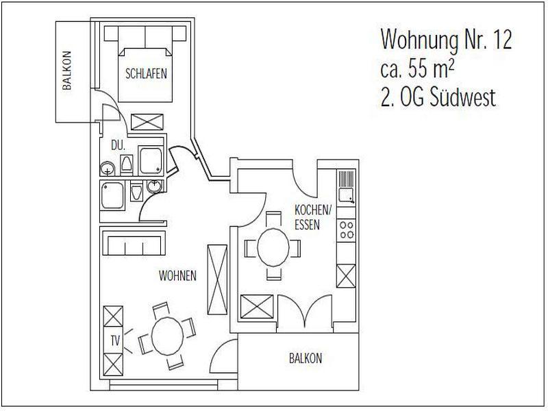 Vacation Apartment in Bad Waldsee - 1 bedroom, 1 living / bedroom, max. 4 people (# 9246) #9246 - Vacation Apartment in Bad Waldsee - 1 bedroom, 1 living / bedroom, max. 4 people (# 9246) - Bad Waldsee - rentals