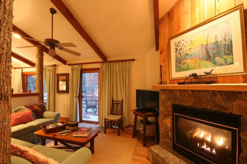 2BR/2BA with Gas Log Fireplace, King Master Suite, Jetted Tub, Rushing Creek in Back Yard, Club Privileges, Minutes From Downtown Blowing Rock & Blue Ridge Pkwy - Image 1 - Boone - rentals