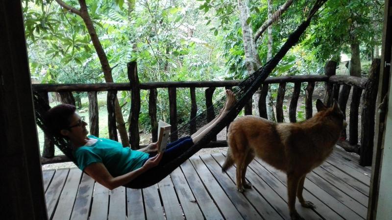 Relax on the hammock right off the balcony by your bedroom - Near Monteverde La Granja - Riverside Farmhouse - Monteverde - rentals