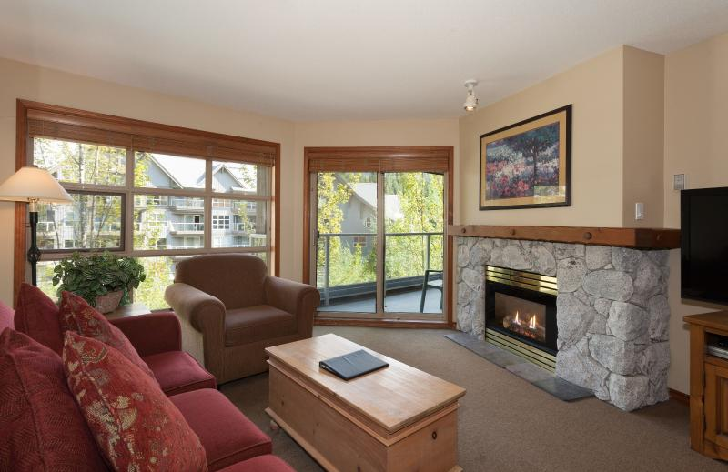Wonderful, spacious living area - Whistler Aspens Perfect 1 Bedroom Condo - Whistler - rentals