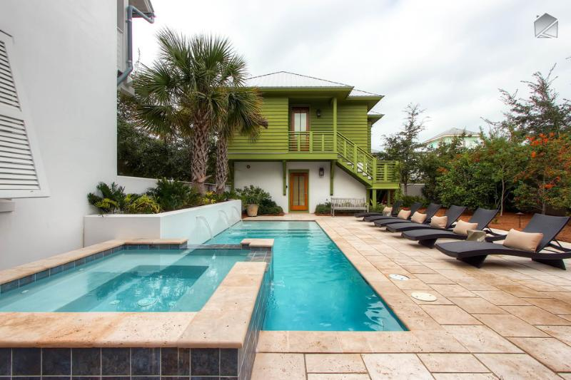 You'll have to decide between going to the beach or hanging out in the private pool all day. - Beautiful luxury home in the heart of Rosemary Beach with private pool and hot tub - Beach Music Main House - Rosemary Beach - rentals