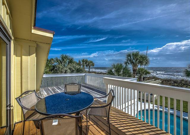 Patio - 93 Dune Lane - Oceanfront/Beach Chic- Book NOW for August - Hilton Head - rentals