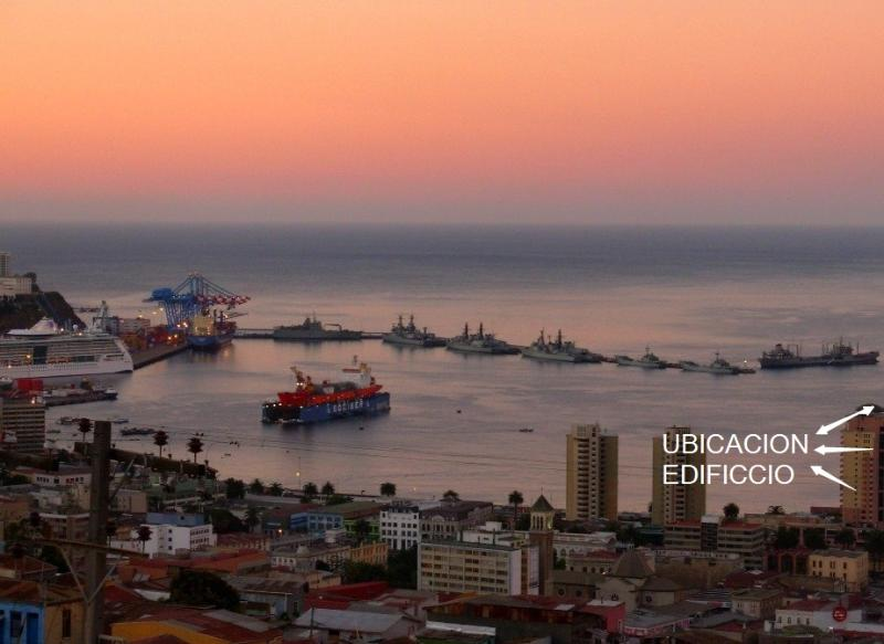 location OF THE building VISTAMAR IN THE HEART OF THE BAY - Unlimited Pacific Ocean Views - Valparaiso - rentals