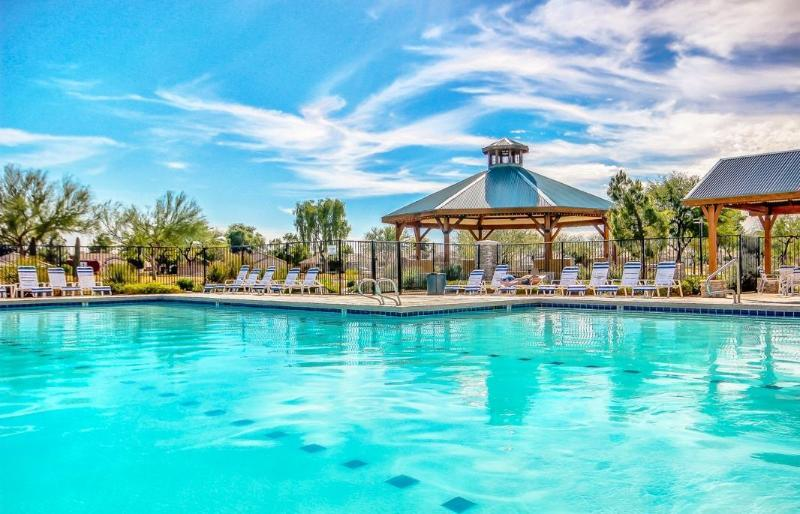 One of three swimming pools/spa's/Gazebo's at Johnson Ranch to enjoy! - New Opening NOW!  3 HEATED Pools/Spas GOLF MTNS+SUN...Welcome! - Queen Creek - rentals