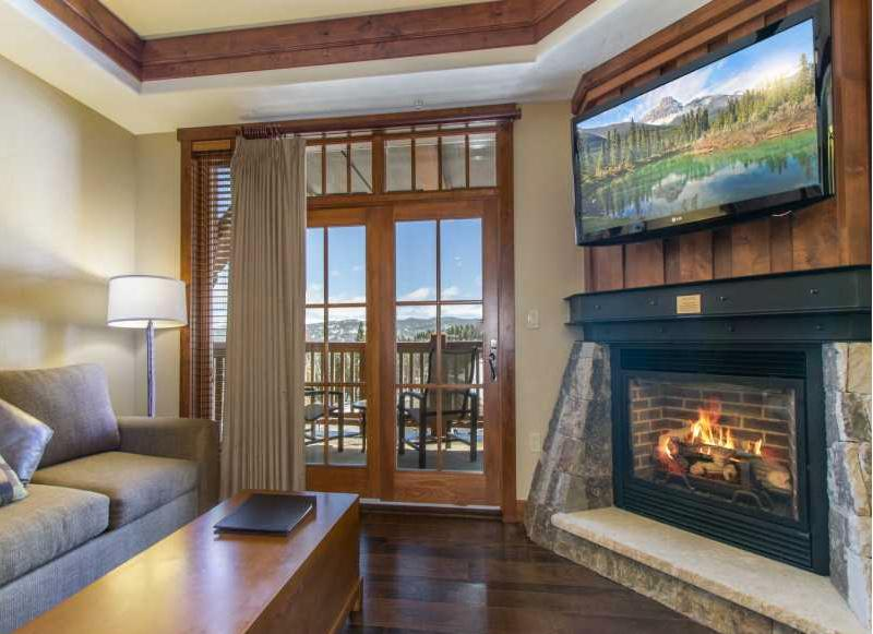 Living Room and Balcony - Xmas Wknd AVAILABLE! Luxury Awaits at this 1Bedroom Ski In/Out Condo! - Breckenridge - rentals