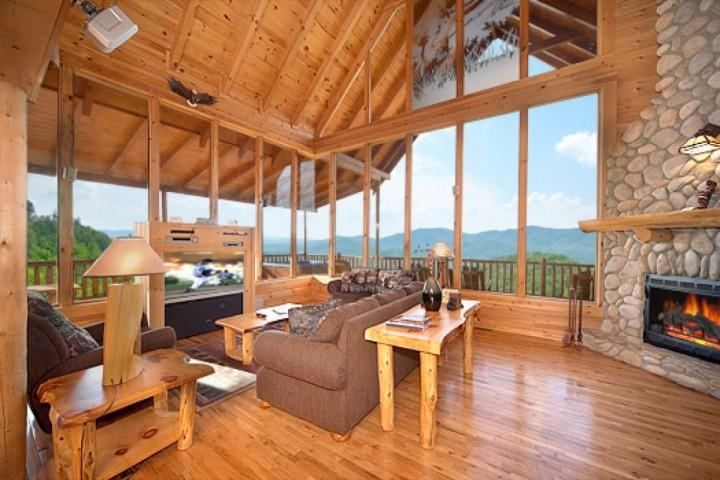 Your first step in the door has you hooked, the view is breathtaking! - Kodiak Cabin ~ 3BR/3.5 BA  Pigeon Forge Luxury Cabin with Amazing  Mtn Views!! - Pigeon Forge - rentals