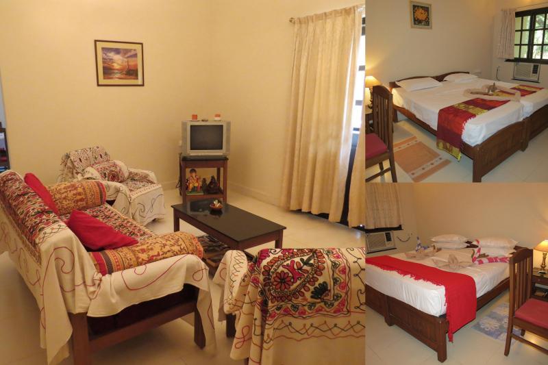32) Pvt 2 Bed Apart Highland Beach Sleeps 4 & Wi-F - Image 1 - Candolim - rentals