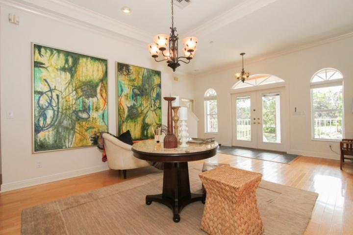 Grand foyer entrance to this professionally decorated vacation home! - Professionally Decorated 4-5BR/4BA Home w/pool,spa, & dock- less than two miles to Barefoot Beach! - Bonita Springs - rentals