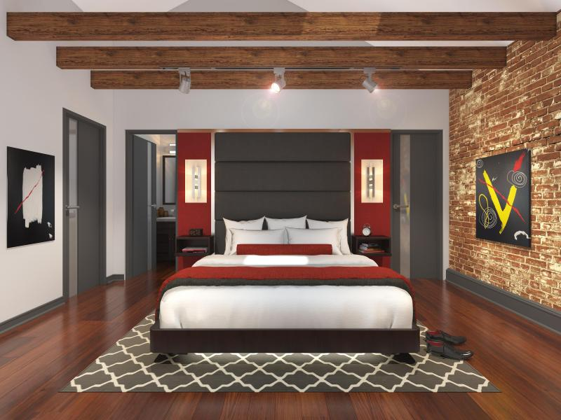 Bedroom with en suite Bathroom - Beautiful 3 Bedroom and 3 Bath with on-site Hot Tub and Pool with Cabanas - New Orleans - rentals
