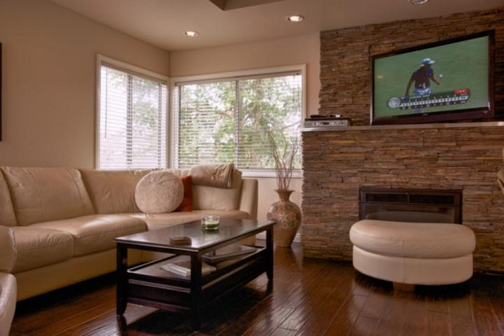 Stone Fireplace w/ TV - Strand Beach Upper Level Condo - Dana Point - rentals
