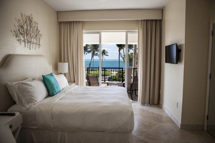 Master bedroom complete with a king sized bed and ocean views. - Opulent 2 Bedroom Fisher Island Villa - Ocean Views & Luxury Amenities - Starting at $699 Per Night - Miami Beach - rentals