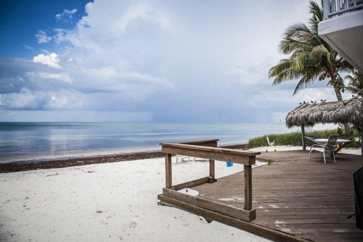 Magnificent views of the ocean from the outside of the property. - **Fall Promo** Rare Ocean Front Keys Home with Private Beach - Great for Kite Surfing! - Islamorada - rentals