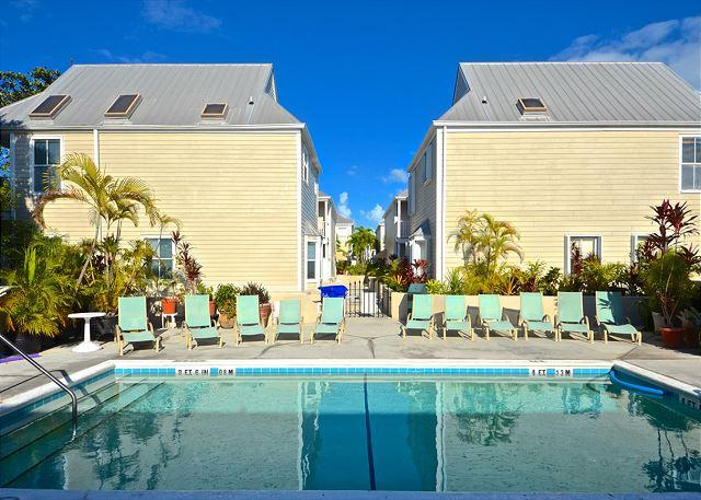 Second story pool located at Duval Square - Casa Cubana- Luxurious Condo w/ Pvt Parking & Shared Pool - Key West - rentals