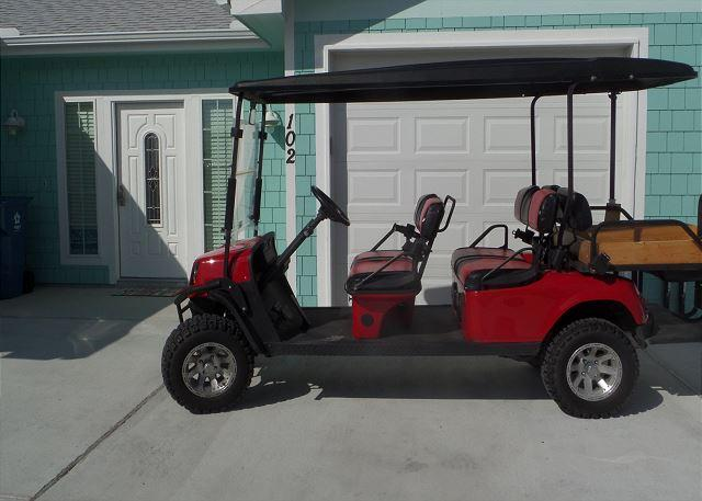 Four Seat Golf Cart w/Specialty flatbed for hauling beach treasu - Island Time 102, Pool, Close to Beach, WiFi, FREE 6 PASS GOLF CART - Port Aransas - rentals