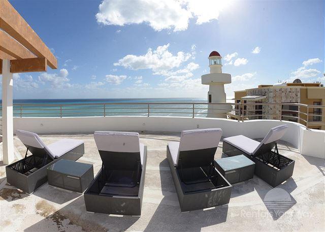 2 Bedroom Panoramic Ocean Front Penthouse (CM305) - Image 1 - Playa del Carmen - rentals