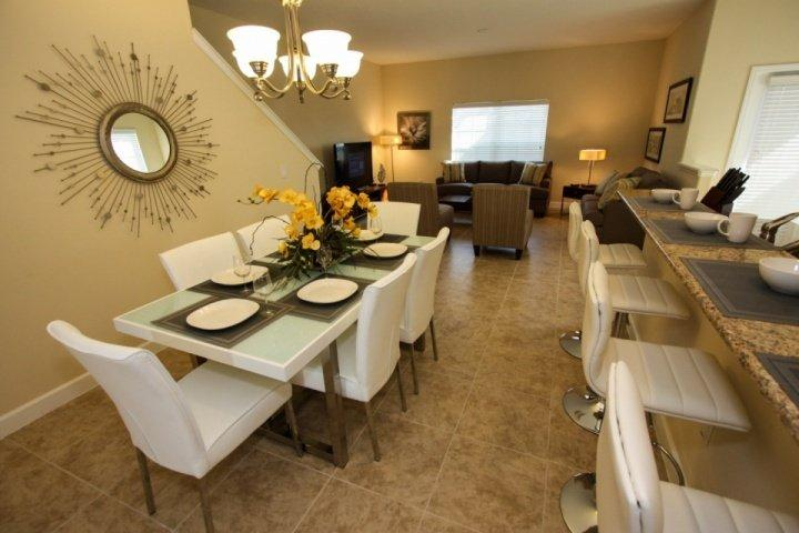 Great dining area seats 10 with stools - 3041 Paradise Palms - Kissimmee - rentals