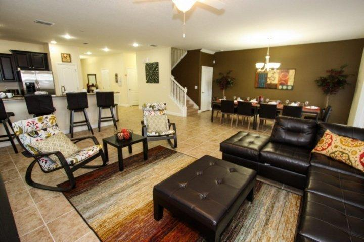 Beautiful open living and dining areas - 1440 Champions Gate - Davenport - rentals
