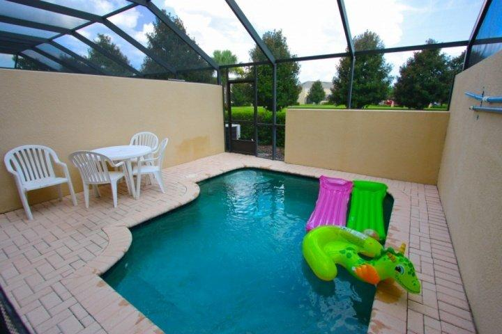 Private Pool Area - Rear Privacy View - 7676 Windsor Hills - Kissimmee - rentals