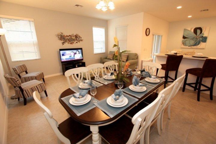 Dining area seats 8 - 2618 Veranda Palm - Kissimmee - rentals