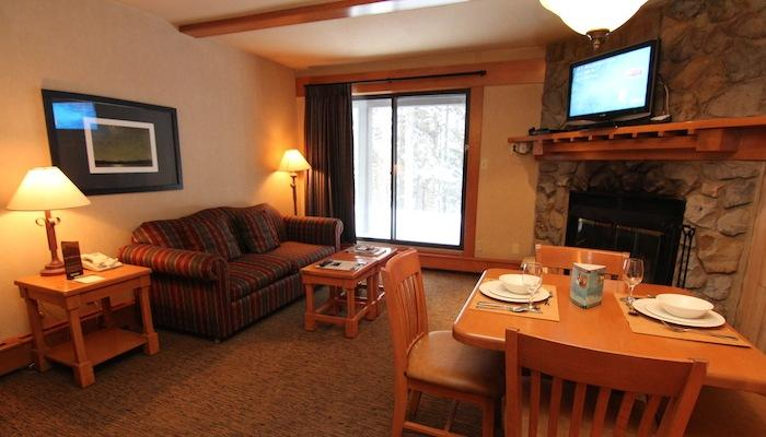 Unwind by the fireplace or enjoy the fresh mountain air from your balcony - Banff Hidden Ridge Resort Lovely 1 Bedroom Condo (2 Queens) - Banff - rentals