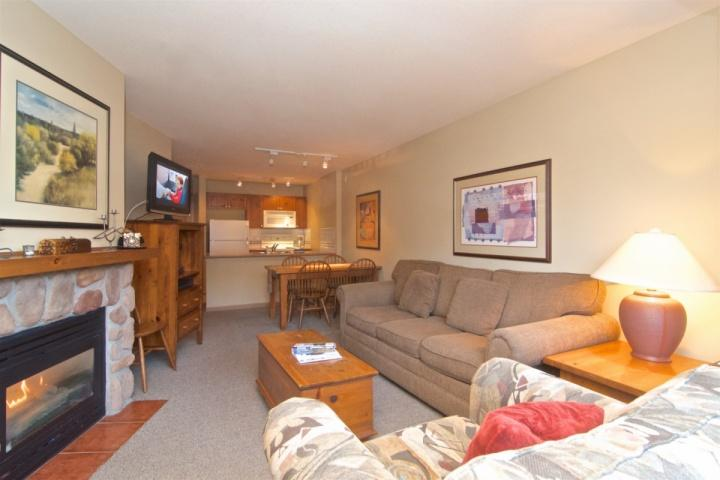 Comfortable open floor plan pictures taken Nov 2015 - Comfortable well equipped 1 bed , 1 bath condo in Deer Lodge unit #355 - Whistler - rentals