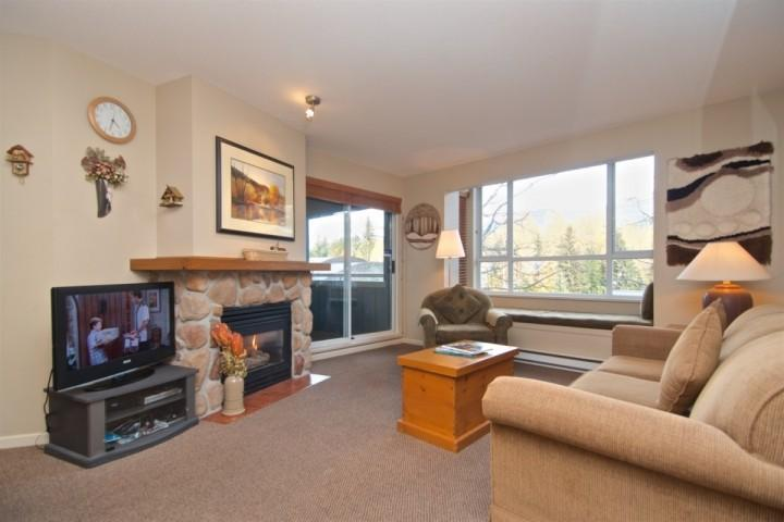 Spacious and bright Living room with mountain view - Eagle Lodge 2Bed, 2 Bath Eagle Lodge Condo with beautiful Mountain View unit # 432 - Whistler - rentals