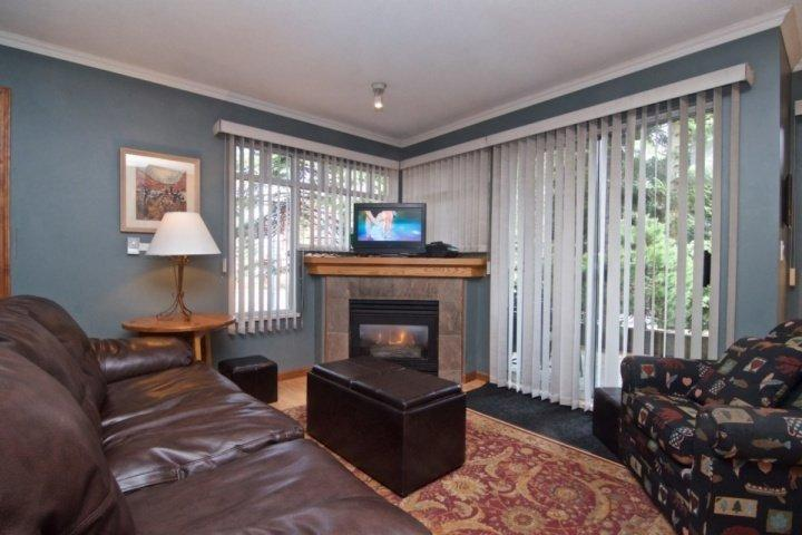 Bright Living room, Gas fireplace - Stoney Creek Sunpath 1 Bedroom townhouse - Whistler - rentals