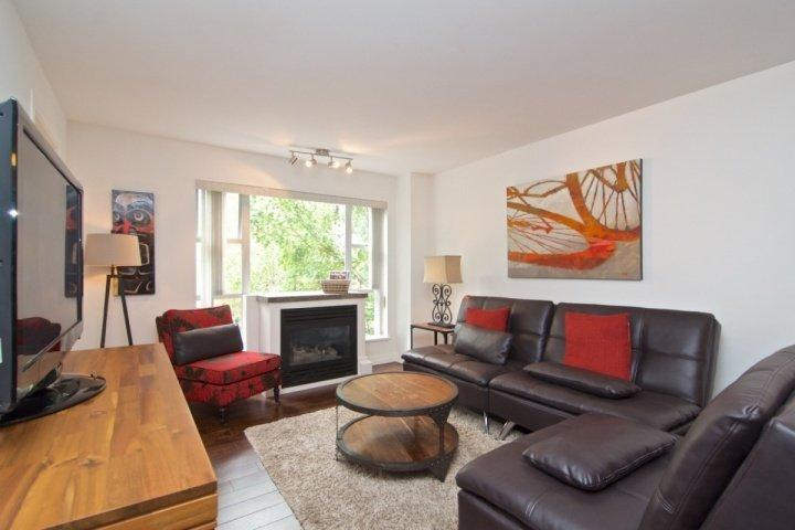 Modern new furnishings , comfortable living room, completely remodelled with new wood floors - Glacier Lodge Fully Remodeled Lovely 3 Bedroom, 2 bath condo - Whistler - rentals