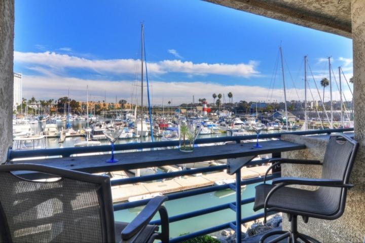 Balcony overlooking the Oceanside Harbor - Marina Del Mar 203B - Harbor View - Oceanside - rentals