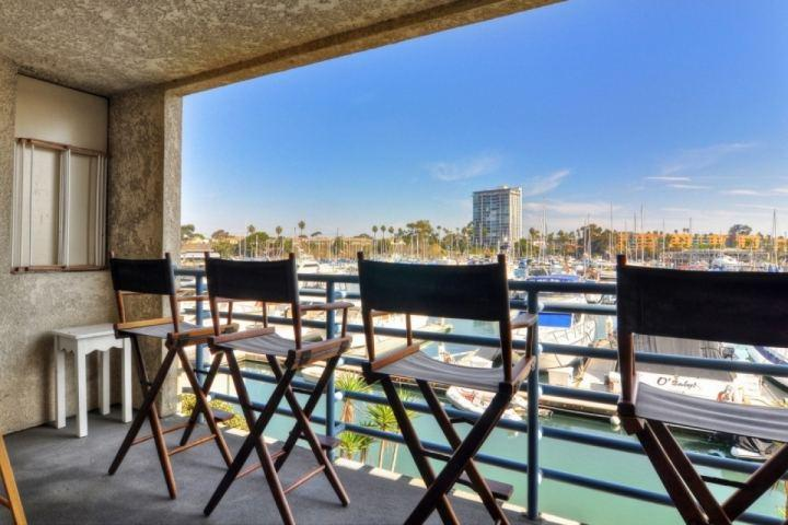 Patio with harbor view - Marina Del Mar 206B - Harbor View - Oceanside - rentals