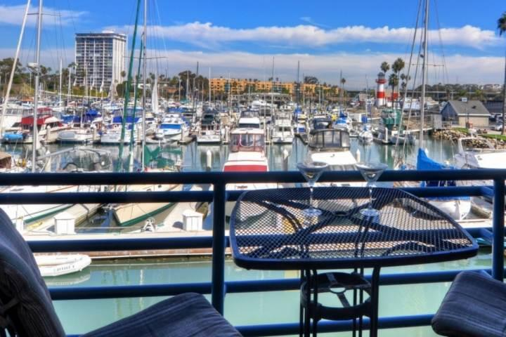 Patio with harbor view - Marina Del Mar 211B - Harbor View - Oceanside - rentals