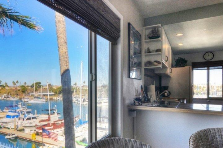 View from dining table - Marina Del Mar 301B - Ocean/Harbor View - Top Floor Corner Unit - Oceanside - rentals