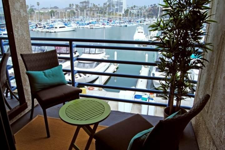 Patio with harbor view - Marina Del Mar 302B - Harbor View - Oceanside - rentals