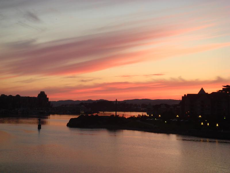 Sunset from roof top deck - Victoria, a Luxury Loft Accomodation - Victoria - rentals